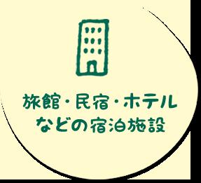 旅館・民宿・ホテルなどの宿泊施設